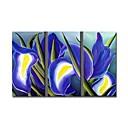 håndlaget floral maleri strukket klar til å henge (0695 -FA-ab-d-005)