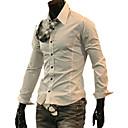 manica lunga camicia casuale bianco nero