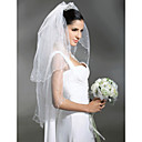 Wedding Veils 2 Layer Fingertip Veils With Beading