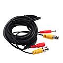 5 meter (of 16 voet) BNC video en voeding 12V DC geïntegreerde kabel
