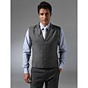 Custom Made Single Breasted More-button Notch Lapel Regular Length Groom Vest
