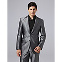Single Breasted Two-button Peak Lapel Center-vented Steel Gray Groom Tuxedo