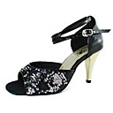 Leatherette/ Sparkling Glitter Upper Dance Shoes Ballroom Latin Shoes for Women More Colors