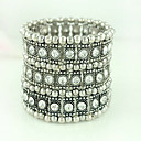 Three Rows of Rhinestone Bracelet