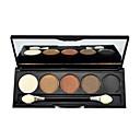 5 colori trucco eye shadow palette con pennello libero