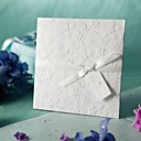bianco goffrato matrimonio fiori di primavera su invito (set di 50)