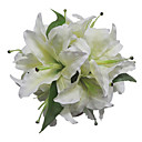 White Lily Satin Bridal Bouquet