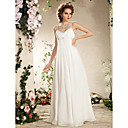 Lan Ting Sheath/Column Plus Sizes Wedding Dress - Ivory Floor-length Spaghetti Straps Chiffon