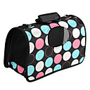 Dual-Zip Spot Pattern Style Pet Carrier (Medium, Black)