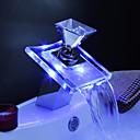 Centersat Enkelt håndtag Et Hul in Krom Håndvasken vandhane