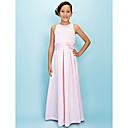 HAYLEY - kjole til junior brudepige i satin