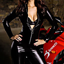 Sexy Frauen Jumpsuit Body PU Leder Fancy Halloween-Kostüm (1Pieces)