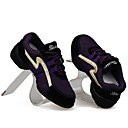 Gorgeous Women's Real Leather Flat Heel Dance Sneakers / Ballroom With Lace-up Dance Shoes