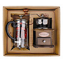 Coffee Series Boxed Gift (Moka & Siphon Pot, Grinder, Cups)