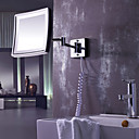 Square 8,5-tommer LED Wall Mount Chrome Finish Sminkespejl