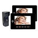 Video ovipuhelin Kaksi 7 Inch Mointor (Touch Key, Warterproof Outdoor Camera)
