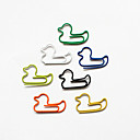 Duck Style Colorful Paper Clips (Random Color, 10-Pack)