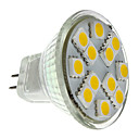 GU4(MR11) 1.5W 12 SMD 5050 160 LM Warm White MR11 LED Spotlight DC 12 V