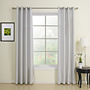 TWOPAGES® Two Panels  Classic Solid Energy Saving Curtains Drapes