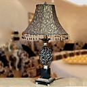 40W Lumière tableau artistique avec abat-jour en tissu rétro et chandelier en résine fait main