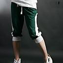 Contrasto di colore di modo degli uomini ritagliata pantaloni sportivi