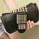 Black Cat Punk Style Decor Rivet Clutch Bag