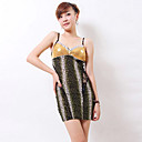 Zhi Yuan Strap Bandeau Stripe Splicing Dress (meer kleuren)