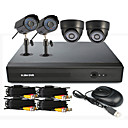 4 Channel One-Touch Online CCTV DVR System(2 Outdoor Waterproof Camera& 2 Indoor Dome Camera)