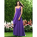 Floor-length Chiffon Bridesmaid Dress - Regency Plus Sizes / Petite Sheath/Column One Shoulder