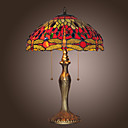 Tiffany--style Jewel Pink Table Lamp(0923-T26)