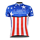 Kooplus 2013 USA Pattern 100% Polyester Short Sleeve Breathable Men Cycling Jersey