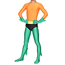 Orange and Green Spandex Lycra Aquaman Cosplay Zentai