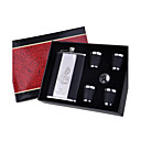 Gift Groomsman Personalized Graceful 6-pieces Quality Stainless Steel 9-oz Flask Gift Set (More Colors)