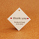 Personalized Rhombus Favor Tag - Thank You (Set di 30)