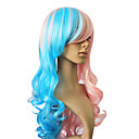 Capless Synthetic Hair Mixed Color Long Curly Hair Wig