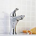 Contemporaines finition chromée Centerset Robinets de lavabo