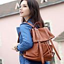 Balckcat PU Solid Color Backpack