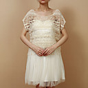 Short Sleeve Cotton/Lace Evening/Casual Wrap/Evening Jacket Bolero Shrug