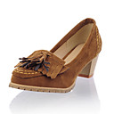 Suede Chunky Heel Round Toe With Tassel Party / Evening Shoes (More Colors)