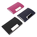 Colorful di cuoio Business Card Holder (colore casuale)
