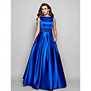TS Couture Formal Evening / Prom / Military Ball Dress - Royal Blue Plus Sizes / Petite Ball Gown / A-line Bateau Floor-length Satin