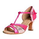 Glitter Sparkling das Mulheres personalizado e cetim superior sapatos de dança