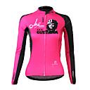 SPAKCT S13C16W High Tech Kvinna 100% Polyester långärmad Solvård Cycling Jersey (Pink)