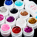 12PCS Glitter UV Color Gel & Fast-drying Cleanser Polish