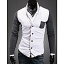 Men's Long Sleeve Cotton Blend Casual Pure