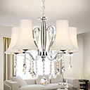Contemporary Fashionable 5 Light Chandelier with Crystal Pendants