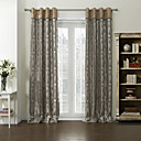 Two Panels Metal Color Stripe Poly / Cotton Blend Panel