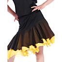 Dancewear Viscose With Chiffon Latin Dance Skirt for Ladies