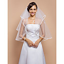 Two-tier Elbow Veil With Ribbon Edge