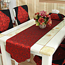 Red Style Polyester Chemin de table chinois